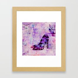 High heel female shoe watercolor art Framed Art Print