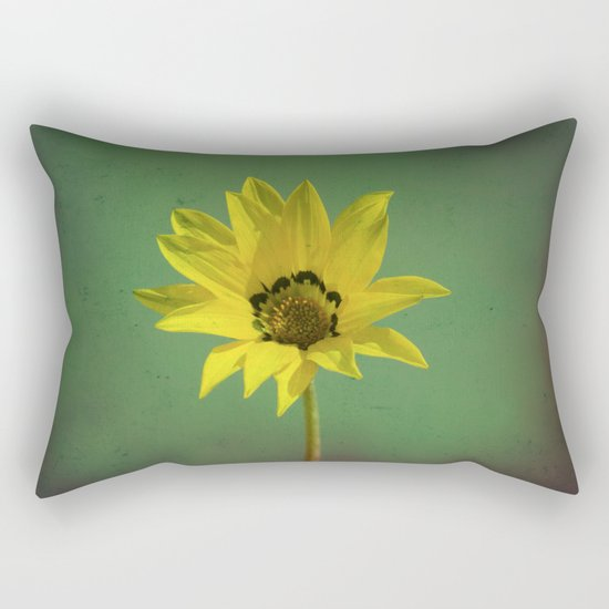 The yellow flower of my old friend Rectangular Pillow