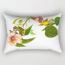 Blue winged Yellow Warbler Rectangular Pillow