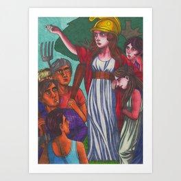 Wild Boadicea Appears Art Print