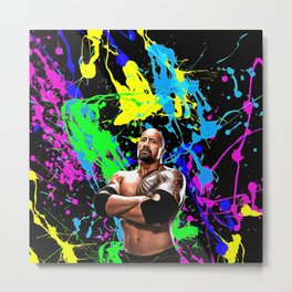 Dwayne Johnson - Celebrity Art Metal Print
