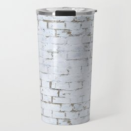 Vintage White Brick Wall Travel Mug