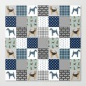 Airedale Terrier Cheater Quilt -  patchwork, airedale, dog, blanket, cute design by petfriendly
