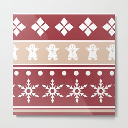 Sweater Pattern 2 c Metal Print