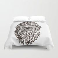 chewbacca Duvet Covers featuring Hipster Chewbacca  by LaurenNoakes