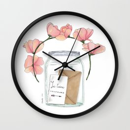 Je t'aime toujours Wall Clock