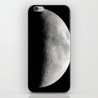 moon phase iPhone & iPod Skins featuring Moon Phase by Dawn East Sider