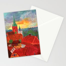 The Rooftops of Kuldiga Stationery Cards