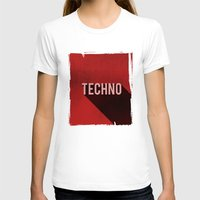 techno T-shirts featuring Techno by Barbo's Art