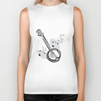 banjo Biker Tanks featuring Banjo by shopaholic chick