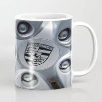 porsche Mugs featuring Porsche Wheel by SShaw Photographic