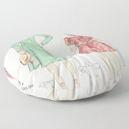 Retro Chic Floor Pillow