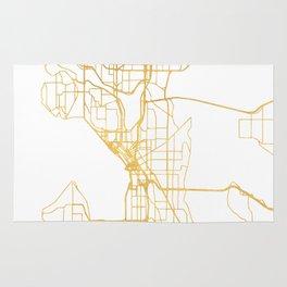 SEATTLE WASHINGTON CITY STREET MAP ART Rug