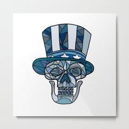 Uncle Sam Skull Mosaic Metal Print