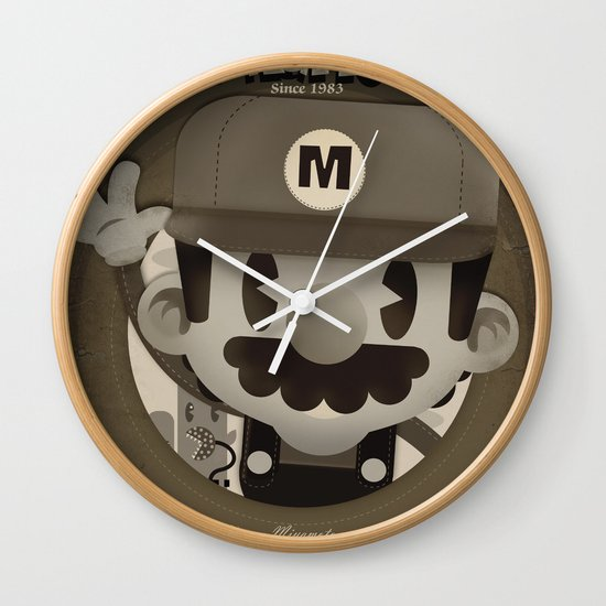 Mario Bros Fan Art Wall Clock