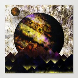 The mountains and the planet Canvas Print