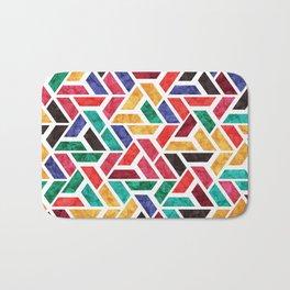 Seamless Colorful Geometric Pattern X Bath Mat