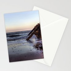 Withernsea Groynes at Sunset Stationery Cards