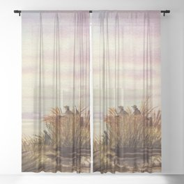 Duck Hunting Companions Sheer Curtain