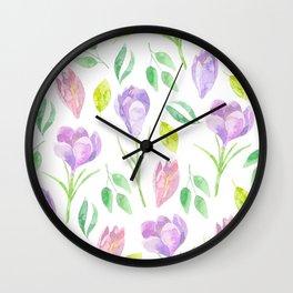 flowers i Wall Clock