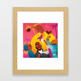 Knocked The Eff Out Framed Art Print
