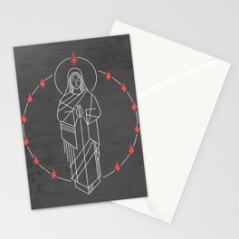 Illustration of Virgin Mary and Holy Spirit at Pentecost Stationery Cards
