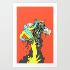 Deathwing's demise Art Print