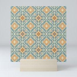 LATTICE MOD DECO PATTERN in Deco Colours Mini Art Print