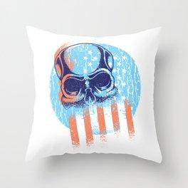 Skull Flag Throw Pillow
