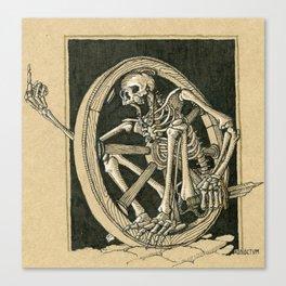 """Bonewheel"" Skeletal wagon wheel skirmisher Canvas Print"