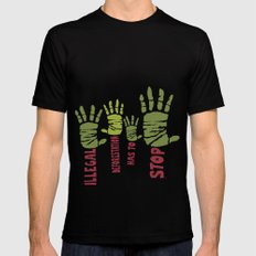 Deforestation has to stop Mens Fitted Tee Black MEDIUM
