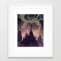 dragonball Framed Art Prints featuring Dragonball - The Journey Begins by Kim Herbst