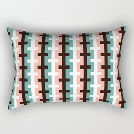 Geometric Pattern #187 (pink olive) Rectangular Pillow