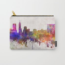 Indianapolis skyline in watercolor background Carry-All Pouch