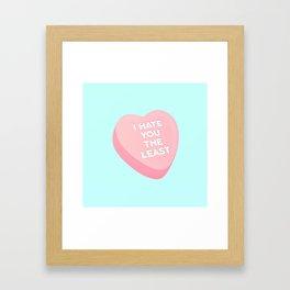 Candy Heart Framed Art Print