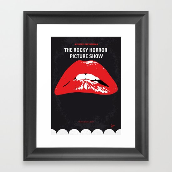 No153 My The Rocky Horror Picture Show minimal movie poster Framed Art Print