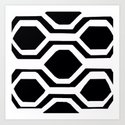 Black and White Geometric by saundramyles