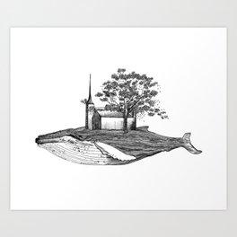 Ballena isla / Whale Island Art Print