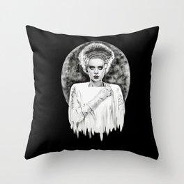 Frankenstein's Bride Throw Pillow