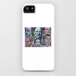 Gangsters painting movie Goodfellas Godfather Casino Scarface Sopranos iPhone Case