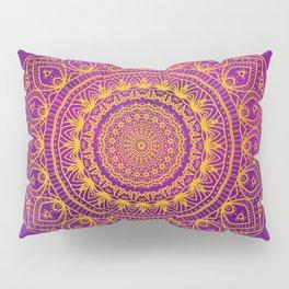 Gold Mandala and Purple Hearts Pillow Sham