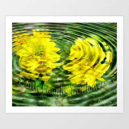 """Earth Laughs in Flowers"" by Artist McKenzie http://www.McKenzieArtStudio.com Art Print"