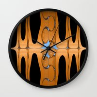 copper Wall Clocks featuring copper by Maureen Popdan