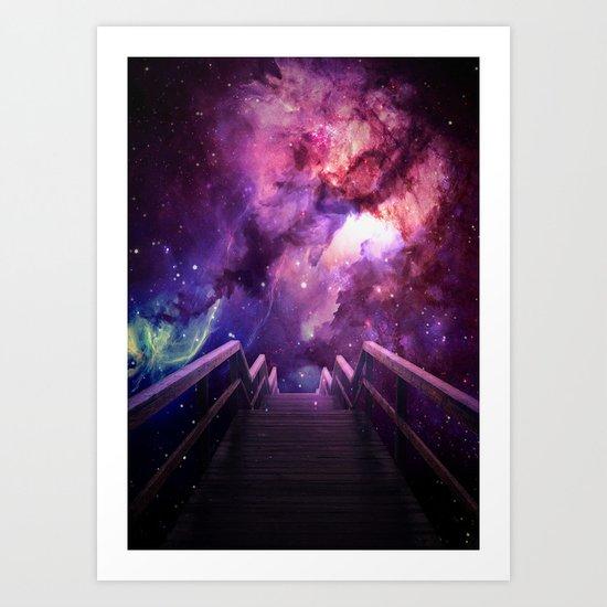Into the bridge Art Print