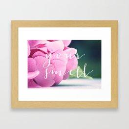 Your smell Framed Art Print
