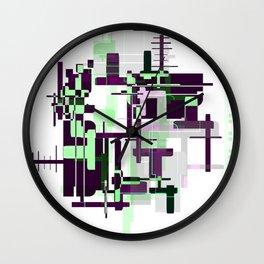 Mint Green City Wall Clock
