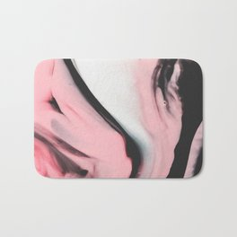 Modern pink marble and black Bath Mat