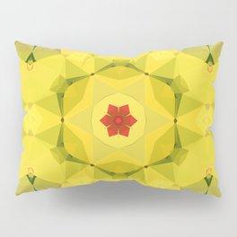 Yellow and Red Geometric Pattern Pillow Sham