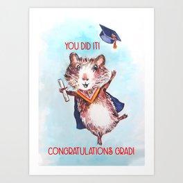 Guinea Pig Graduation Art Print