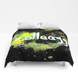 Scullayyy Yellow & Green Nebula Comforters